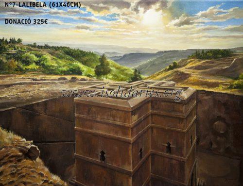 Obras solidarias del pintor JR Espax para ayudar a Etiopía