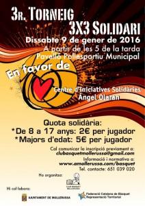 3r Torneig 3x3 Solidari del Club Bàsquet Mollerussa del 9/01/16