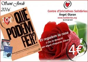 Gaudir de Sant Jordi amb rosa i llibre solidari-1