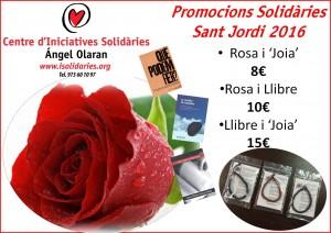 Gaudir de Sant Jordi amb rosa i llibre solidari-2