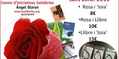 Sant Jordi amb rosa i llibre solidari-2