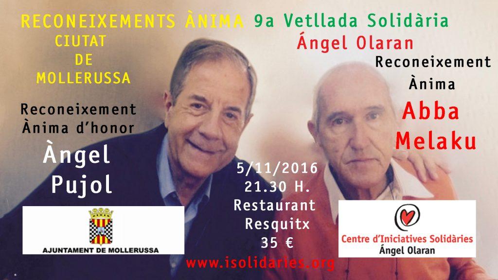 9a Vetllada Solidària Ángel Olaran i Reconeixements Ànima 2016