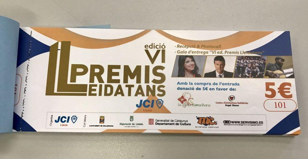 Entrada VI Edicio Premis Lleidatans