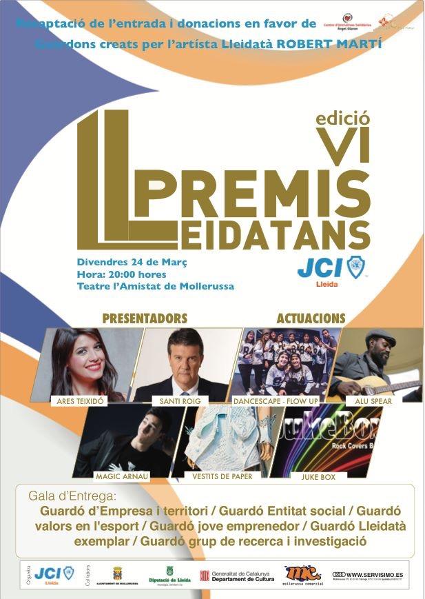 VI Premis Lleidatans 2017