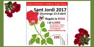 Diada de Sant Jordi amb Roses i llibres solidaris 2017