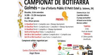 Golmes celebra campionat de botifarra
