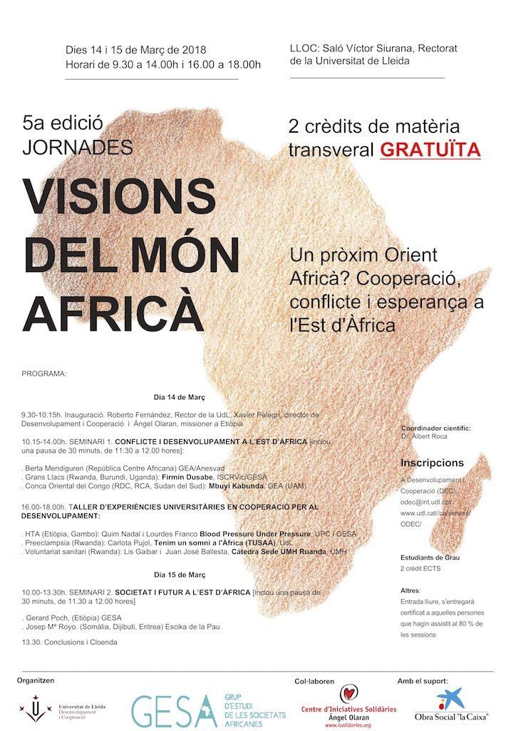Ángel Olaran participa en les jornades Visions del Món Africà