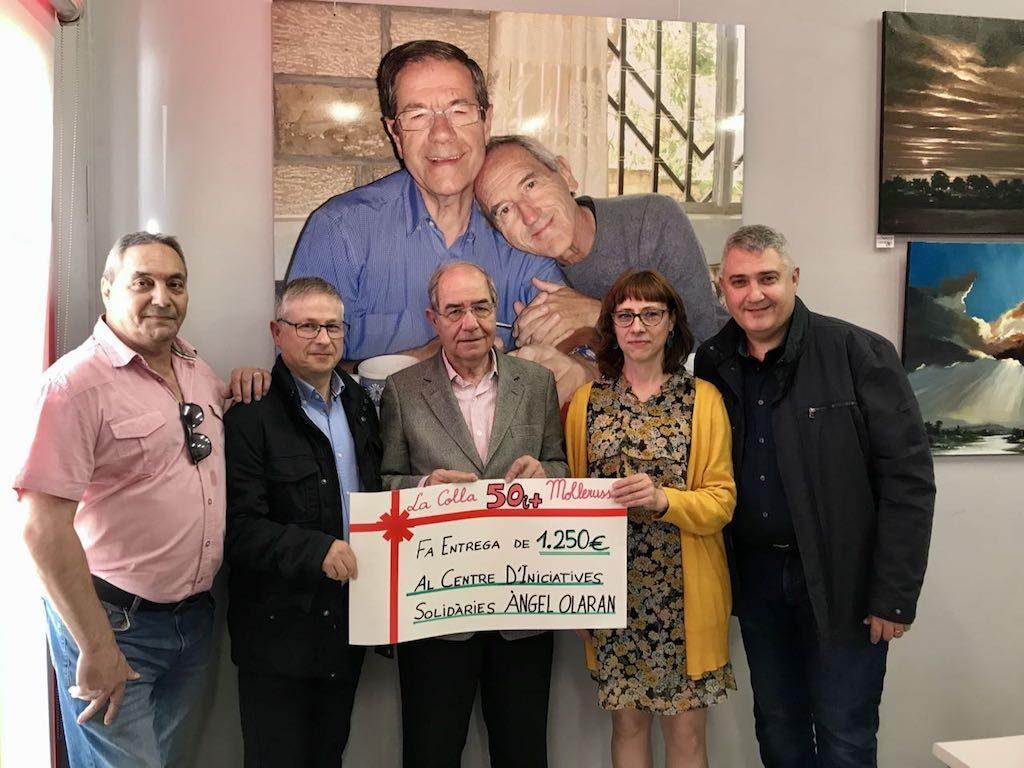 Donació de 1.250 euros de la Colla dels 50 i més de Mollerussa