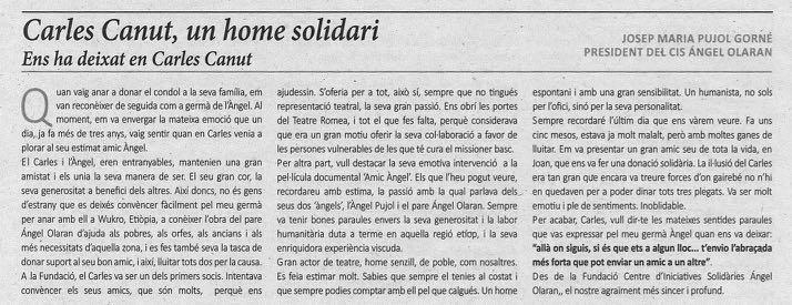 07-10-18 La Mañana-Carles Canut-un home solidari