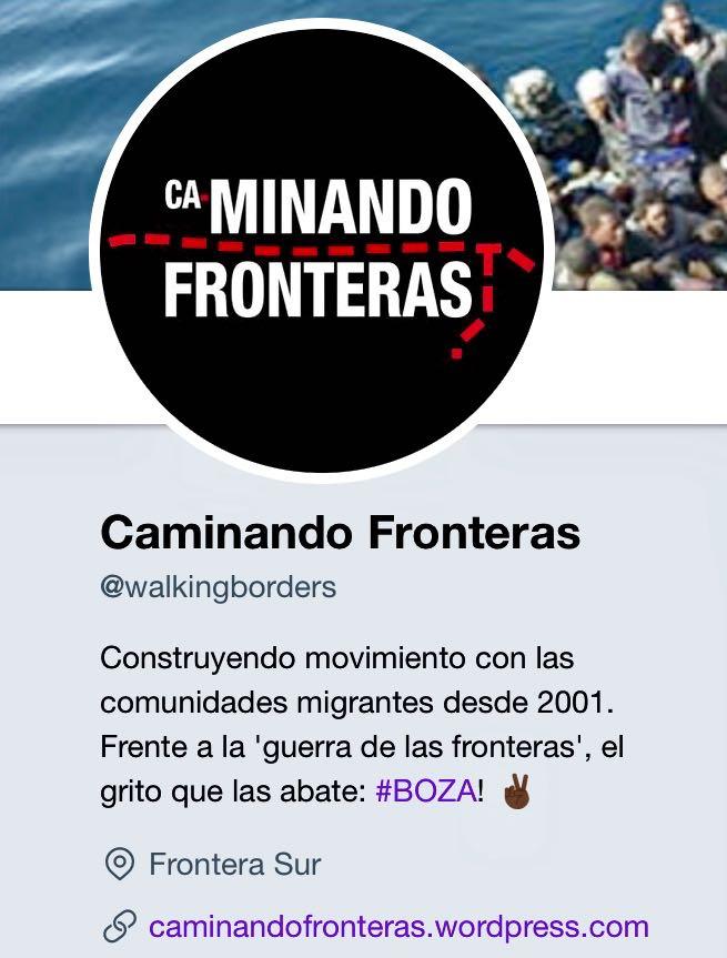 Caminando Fronteras-Perfil Social Twitter