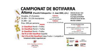 Aitona celebra el campionat solidari del joc de botifarra