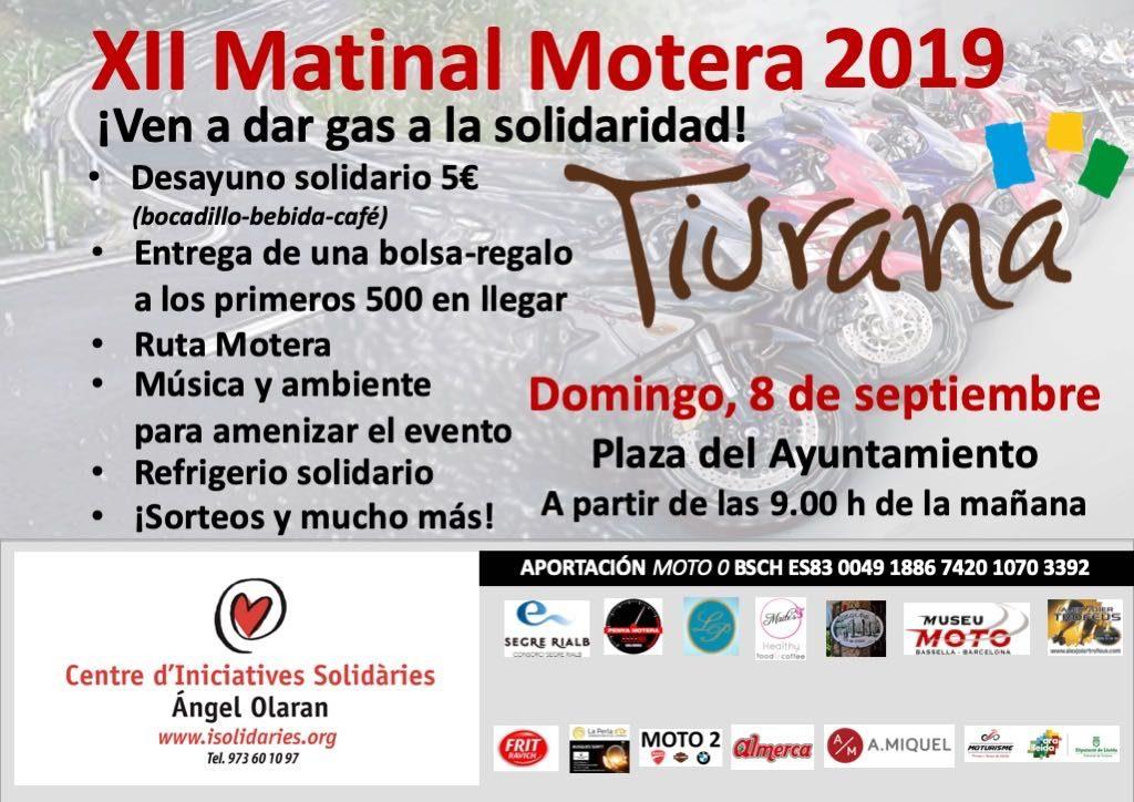 XII Matinal Motera TIiurana con desayuno solidario 2019-web