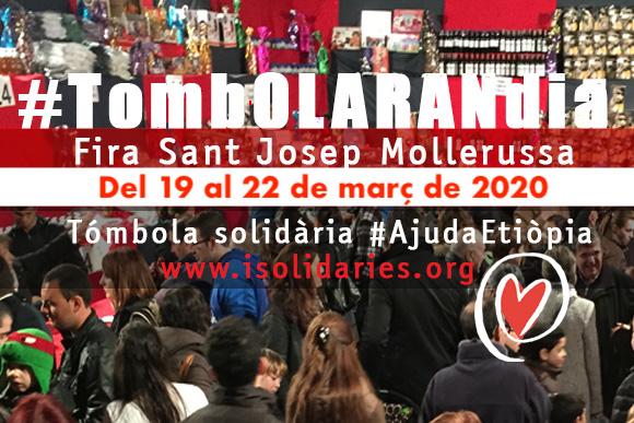 Tómbola solidària a la Fira Sant Josep Mollerussa 2020
